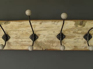 Vintage Hat and coat rack:   by Seagirl and Magpie