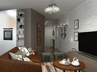 Orlova Home Design Eclectic style living room