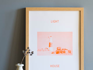 Light House Print - Orange:   by Oggetto