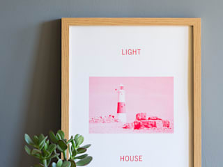 Light House Print - Red:   by Oggetto