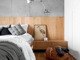Apartament na Muranowie Nowoczesna sypialnia od OIKOI Nowoczesny