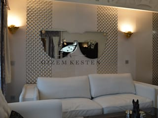 Salas modernas de Gizem Kesten Architecture / Mimarlik Moderno