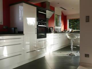 Cuisine contemporaine acrylique blanc brillant ABEMA CuisinePlacards & stockage