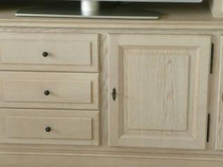 Living chêne blanchi classique ABEMA SalonMeubles télévision & multimédia