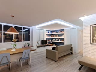 Raphael Civille Arquitetura Salas de estar minimalistas