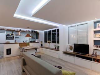 Minimalist Oturma Odası Raphael Civille Arquitetura Minimalist