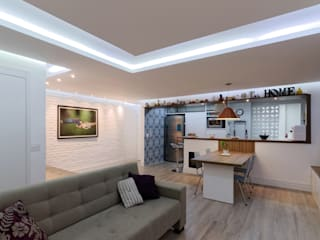 Apartamento Itaim Bibi - 90m² Salas de jantar minimalistas por Raphael Civille Arquitetura Minimalista