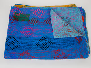 Vintage Indian Kantha Throws & Quilts :   by Rebecca's Aix Home