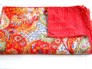 Kantha Style Kingsize Bedspreads:   by Rebecca's Aix Home