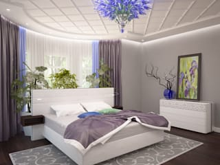 Eclectic style bedroom by LD design Eclectic