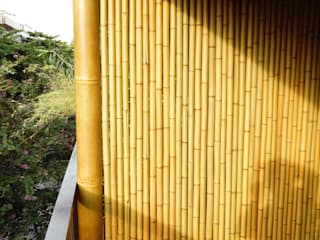 Bambu Rei Eco-Design Rustic style balcony, porch & terrace