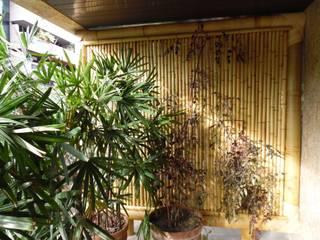 Bambu Rei Eco-Design Balcones y terrazas de estilo rústico
