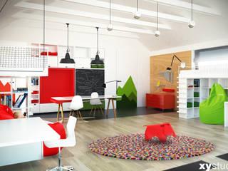 Pokoje dla dzieci - dom jednorodzinny Nowoczesny pokój dziecięcy od xystudio Nowoczesny