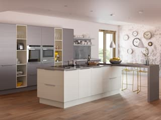 Roxbury Grained Island in Mussel | Sigma 3 Kitchens:   by Sigma 3 Kitchens