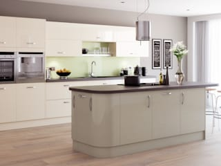 Mitre Gloss Island in Nutmeg | Sigma 3 Kitchens:   by Sigma 3 Kitchens
