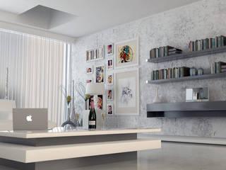 Salones de estilo moderno de SolidART Digital Architecture Moderno