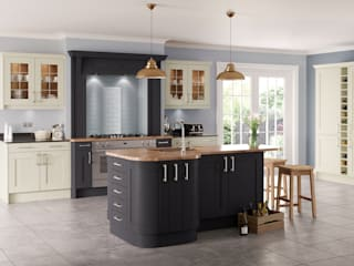 Saltaire Painted Graphite Shaker Island | Sigma 3 Kitchens: classic Kitchen by Sigma 3 Kitchens
