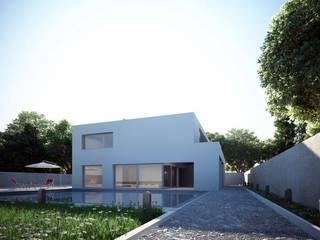 Casas de estilo minimalista de SolidART Digital Architecture Minimalista
