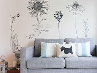 Hand drawn flower (pack 2) wall stickers Vinyl Impression Walls & flooringWall tattoos