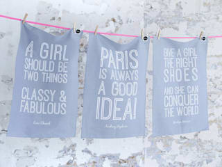 SET OF 3 QUOTE TEA TOWELS:   by Hey! Holla