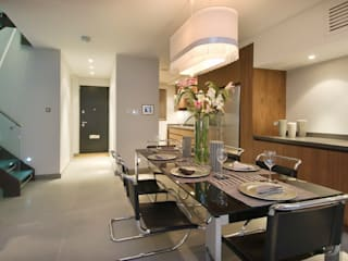 Renovation of a Mews House central London Modern kitchen by Saunders Interiors Ltd Modern