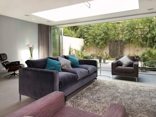 Renovation of a Mews House central London Modern living room by Saunders Interiors Ltd Modern