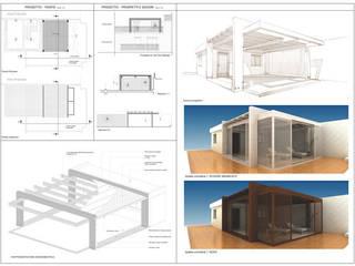 "Pergola ""Micale"": Terrazza in stile  di SolidART Digital Architecture"