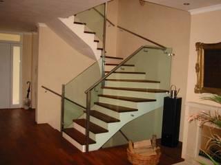 Glaserei Schmitt Modern Corridor, Hallway and Staircase