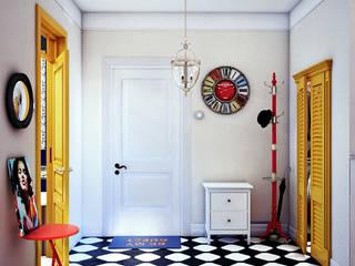 Scandinavian corridor, hallway & stairs by sreda Scandinavian