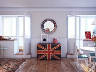 Living room by sreda, Scandinavian