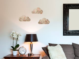 Set Of Floral Vintage Wallpaper Wooden Clouds:   by Ava & Bea