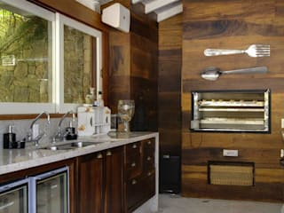 Cocinas de estilo  de Raquel Junqueira Arquitetura, Rural