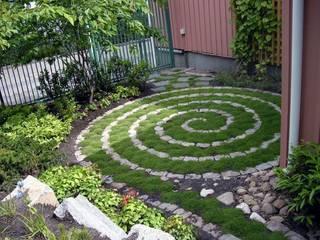 Piccoli giardini realizzati in città. small garden in the city: Giardino in stile  di Dotto Francesco consulting Green