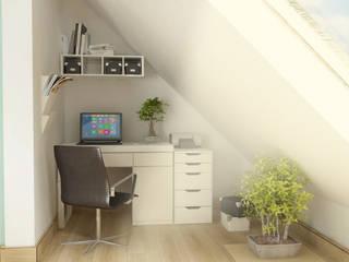 Ruang Studi/Kantor Gaya Skandinavia Oleh D2 Studio Skandinavia