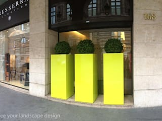 Very large plant containers, at height of man ! Jardines de estilo moderno de ATELIER SO GREEN Moderno