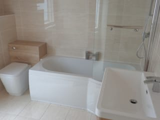 ​P Shaped Shower Bath:   by Coventry Bathrooms