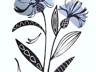 Centaurea:   by Ruth Green Design and Printmaking