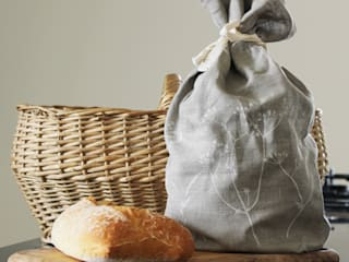 Hedgerow Collection - Hand Printed Linen Bread Bag:   by Helen Round