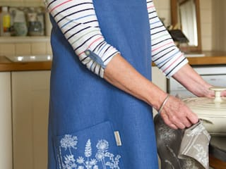 Garden Collection - Hand Printed Linen Apron:   by Helen Round