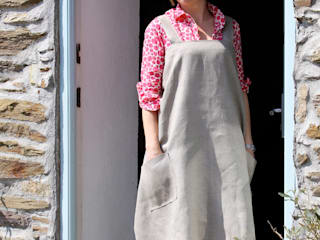 Hedgerow Collection - Hand Printed Linen Apron:   by Helen Round