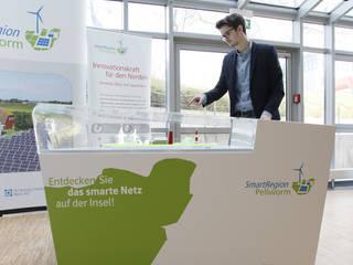 interaktives Exponat E.ON HANSE AG »SMARTREGION PELLWORM«:  Messe Design von Skope inventive spaces