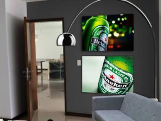 BAR : Salas multimedia de estilo  por MINT INTERIORISMO