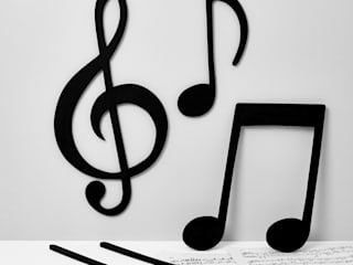 Musical Notes Wall Art:   by Altered Chic