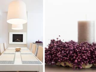 Mieszkanie - Warszawa - 85 m2: styl , w kategorii Jadalnia zaprojektowany przez Mprojekt