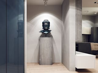 Projecto2 Minimalistischer Flur, Diele & Treppenhaus