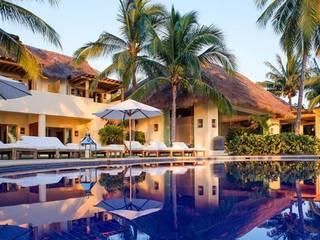 Casa Aramara Albercas tropicales de BR ARQUITECTOS Tropical