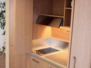 Cucina a scomparsa da cm.205 con ante a libro – taverna di MiniCucine.com Minimalista