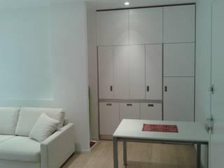 Cucine a scomparsa monoblocco da cm.200 con ante - studio a Roma di MiniCucine.com Minimalista