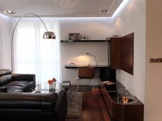 apartament w Krakowie: styl , w kategorii Salon zaprojektowany przez dot.projekt