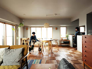 Scandinavian style dining room by 稲山貴則 建築設計事務所 Scandinavian